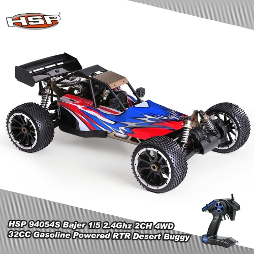 HSP 94054S Bajer 1/5 2.4Ghz 2CH 4WD 32CC Gasoline Powered Desert Buggy RTR Remote Control Car RM5761US