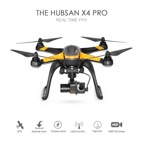 Image of Hubsan X4 Pro H109S 5.8G FPV Drone with 1080P HD Camera H7000 Smart Transmitter 3 Axis Gimbal GPS