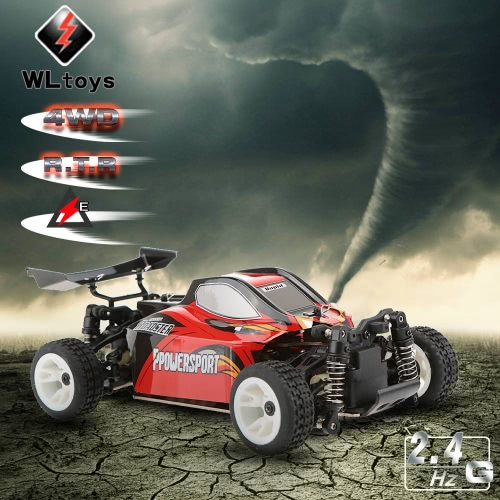 Original WLtoys A202 1/24 2.4G Electric Brushed 4WD RTR RC Car Off-road Buggy