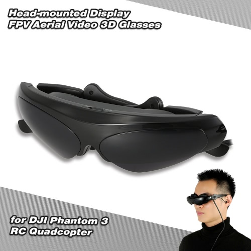 Head-mounted Display FPV Aerial Video 3D Glasses for DJI Phantom 3 RC Quadcopter RM4897EU