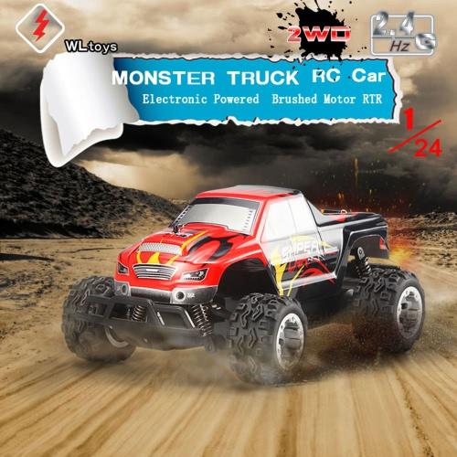 Original WLtoys L343 1/24 2.4G Electric Brushed 2WD RTR RC Monster Truck RM5042EU
