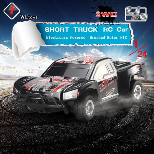 Original WLtoys L353 1/24 2.4G Electric Brushed 2WD RTR RC Car Short Truck