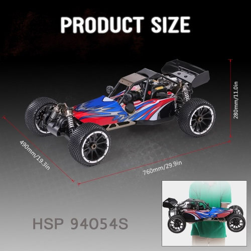 Original HSP 94054S Bajer 1/5 2.4Ghz 2CH 4WD 32CC Gasoline Powered Desert Buggy RTR Remote Control Car