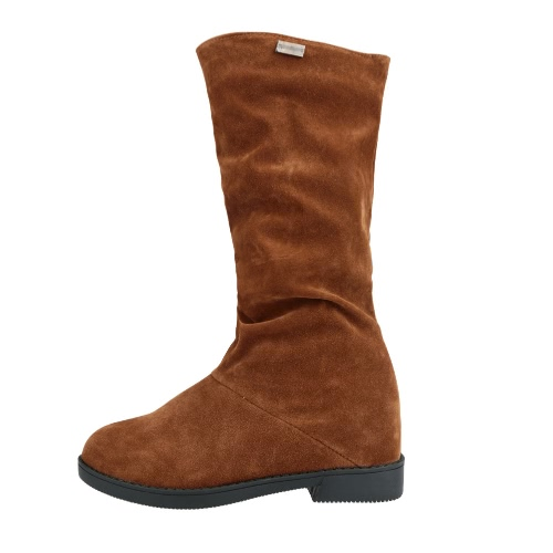 Fashion Women Mid-calf Boots Faux Suede Round Toe Concealed Wedge Heel Slouch Boots Red/Black/BrownFashion Women Mid-calf Boots Faux Suede Round Toe Concealed Wedge Heel Slouch Boots Red/Black/Brown<br><br>Blade Length: 30.0cm