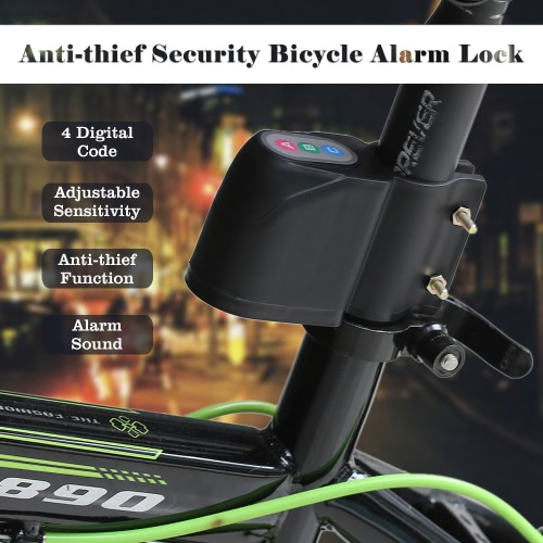 Anti-thief Security Bike Bicycle Motorcycle Alarm Lock Vibrate Sensor Code Unlock 105db+ Alert Sound S746