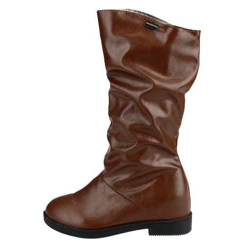 Winter Women Boots PU Leather Round Toe Concealed Wedge Heel Mid Calf Slouch Shoes Black/BrownWinter Women Boots PU Leather Round Toe Concealed Wedge Heel Mid Calf Slouch Shoes Black/Brown<br><br>Blade Length: 30.0cm