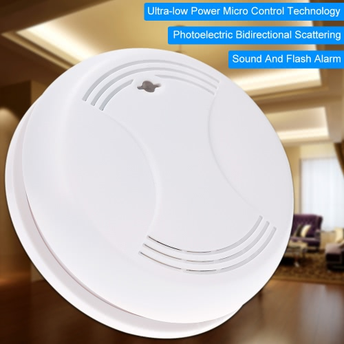 Wireless Smoke Detector Home Security Fire Alarm Sensor SystemAlarms Secuity &amp; Padlock<br>Wireless Smoke Detector Home Security Fire Alarm Sensor System<br><br>Blade Length: 12.2cm