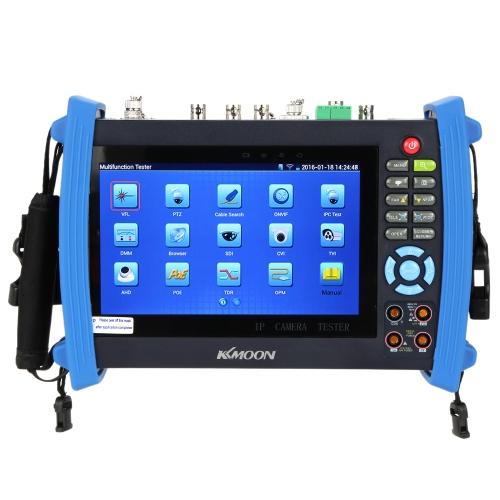KKMOON 7inch CCTV Onvif IP Camera Tester Touch Screen Monitor AHD/SDI/TVI/CVI HDMI 1080P/PTZ/POE/WIFI/DMM/TDR/Cable Tracer/Optical Power Meter/Visual Fault Locator IPC-8600MOVTSADH S719-UK