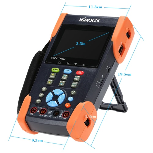 KKmoon 3.5in LCD CCTV Camera Tester Video Monitor PTZ/Cable Tracer/DMM/VFL/IP Scan/Port Flashing HVT-2623Wireless Camera &amp; Receiver<br>KKmoon 3.5in LCD CCTV Camera Tester Video Monitor PTZ/Cable Tracer/DMM/VFL/IP Scan/Port Flashing HVT-2623<br><br>Blade Length: 29.0cm