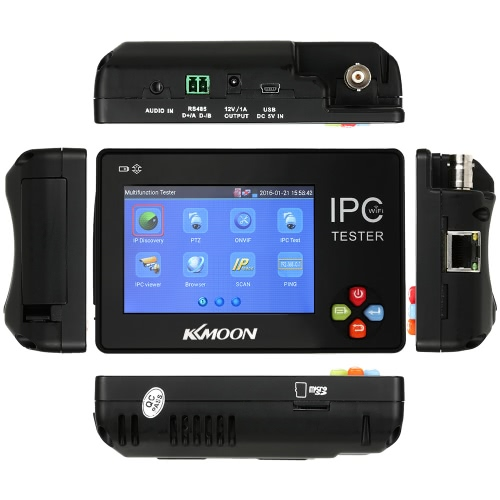 KKmoon 3.5inch CCTV Onvif IP Camera Tester Touch Screen Monitor PTZ/WIFI/FTP Server/IP Scan/Port Flashing/DHCPWireless Camera &amp; Receiver<br>KKmoon 3.5inch CCTV Onvif IP Camera Tester Touch Screen Monitor PTZ/WIFI/FTP Server/IP Scan/Port Flashing/DHCP<br><br>Blade Length: 18.5cm