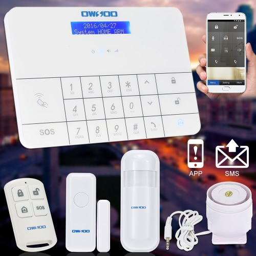 OWSOO  Wireless LCD GSM &amp; SMS Home House Security  Burglar Intruder Alarm System Auto DialerAlarms Secuity &amp; Padlock<br>OWSOO  Wireless LCD GSM &amp; SMS Home House Security  Burglar Intruder Alarm System Auto Dialer<br><br>Blade Length: 28.0cm