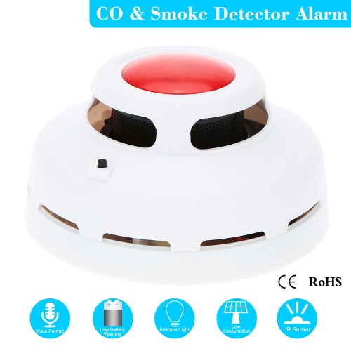 Stable Standalone Combination Carbon Monoxide And Smoke Alarm High Sensitive CO & Smoke Detector for Home Security S527