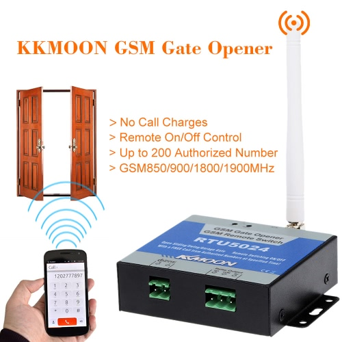 KKMOON GSM Door Gate Opener Remote On/Off Switch Free Call SMS Command Support 850/900/1800/1900MHz S552