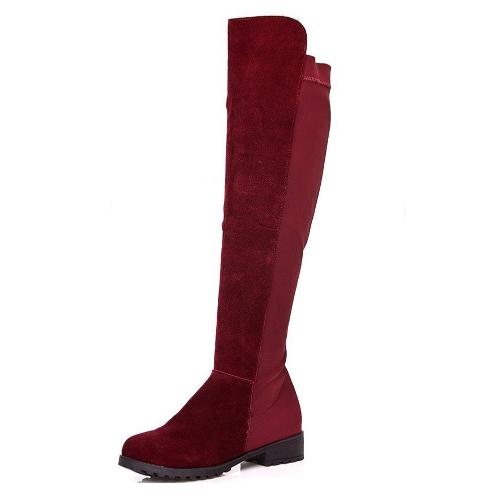 New Spring Autumn Women Long Boots Patchwork