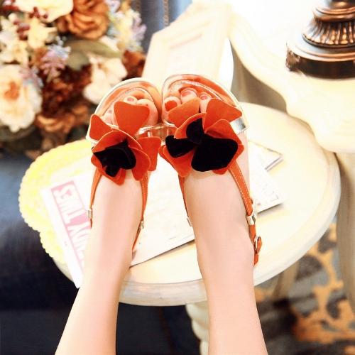 Fashion Summer Women Flat Sandal Slingback Shoes Flats OrangeFashion Summer Women Flat Sandal Slingback Shoes Flats Orange<br><br>Blade Length: 35.0cm