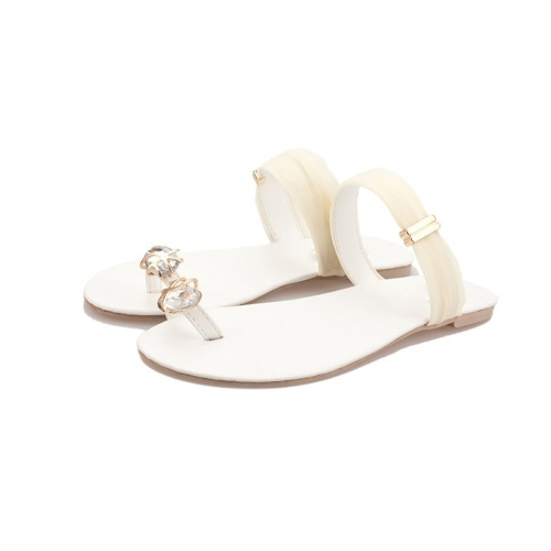 New Summer Women Girls Flats Rhinestone Toe-post Flip-flop Sandals Shoes BeigeNew Summer Women Girls Flats Rhinestone Toe-post Flip-flop Sandals Shoes Beige<br><br>Blade Length: 40.0cm