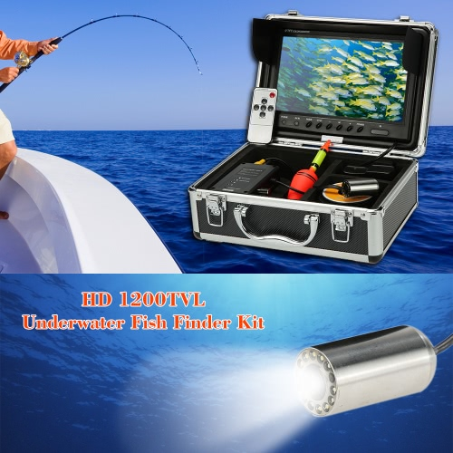 "KKmoon® HD Underwater Fish Finder Kit with 9"" LCD Monitor + 30M 1200TVL Camera + 4000mah Battery Box + Removable Sun-shield + Portable Alloy Case + Remote Control support Waterproof Night View Battery Level Indication Adjustable LED Intensity Plug and Play for Ice/Sea/River FishingCCTV Cameras<br>KKmoon® HD Underwater Fish Finder Kit with 9"" LCD Monitor + 30M 1200TVL Camera + 4000mah Battery Box + Removable Sun-shield + Portable Alloy Case + Remote Control support Waterproof Night View Battery Level Indication Adjustable LED Intensity Plug and Play for Ice/Sea/River Fishing<br><br>Blade Length: 28.5cm"