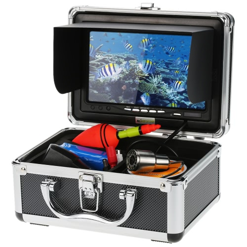 """KKmoon® 1200TVL Record Snapshot Underwater Fish Finder Kit with 7"""" LCD Monitor + 30M Camera + 4G SD Card + 4500mah Battery + Portable Alloy Case support Waterproof Night View Plug and Play for Ice/Sea/River FishingCCTV Cameras<br>KKmoon® 1200TVL Record Snapshot Underwater Fish Finder Kit with 7"""" LCD Monitor + 30M Camera + 4G SD Card + 4500mah Battery + Portable Alloy Case support Waterproof Night View Plug and Play for Ice/Sea/River Fishing<br><br>Blade Length: 24.3cm"""