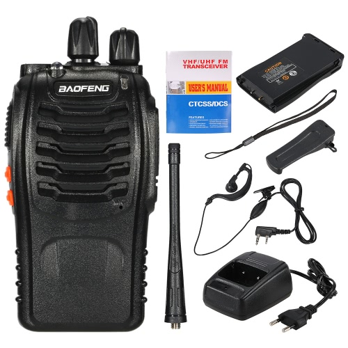 BaoFeng® 16CH FM UHF 400-470MHz Talkie Walkie Transceiver 2-way Radio Portable Handheld Interphone Long Distance 1500mah Battery FlashlightVideo monitor<br>BaoFeng® 16CH FM UHF 400-470MHz Talkie Walkie Transceiver 2-way Radio Portable Handheld Interphone Long Distance 1500mah Battery Flashlight<br><br>Blade Length: 24.0cm