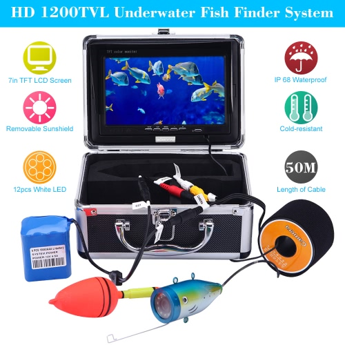 KKmoon 50M Underwater Fish Finder HD 1200TVL Camera for Ice/Sea/River Fishing with 7in LCD MonitorCCTV Cameras<br>KKmoon 50M Underwater Fish Finder HD 1200TVL Camera for Ice/Sea/River Fishing with 7in LCD Monitor<br><br>Blade Length: 22.5cm