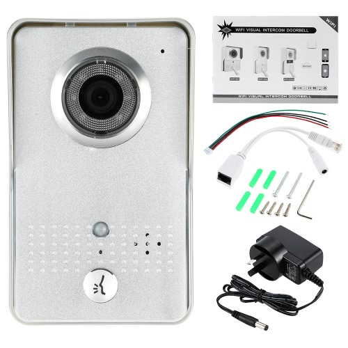 0.3MP Wireless WiFi Door Phone Visual Intercom Doorbell support Record Snapshot Unlock Lock Time Delay Hotspot P2P Android/iOS APP Infrared Night View Rainproof PIR + Motion Detection + Tamper Alarm for Home SurveillanceAlarms Secuity &amp; Padlock<br>0.3MP Wireless WiFi Door Phone Visual Intercom Doorbell support Record Snapshot Unlock Lock Time Delay Hotspot P2P Android/iOS APP Infrared Night View Rainproof PIR + Motion Detection + Tamper Alarm for Home Surveillance<br><br>Blade Length: 24.0cm