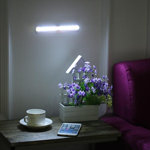 KKmoon  10 LED Auto Human PIR Motion Induction Detector Light Bar Wireless Cabinet Wardrobe Closet Sensor Wall Night Lamp White Light