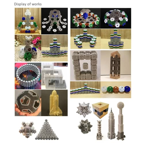 Multi-color 5 mm Neodymium Magic Beats Magnetic Balls Puzzle Spheres DIY Educational Toy 150 Pieces