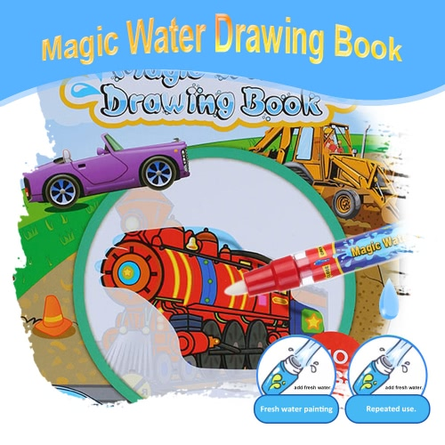 Non-toxic Magic Water Drawing Book Coloring Book Doodle with Magic Pen Vehicle Series Painting No Ink Educational ToyDIY Toys<br>Non-toxic Magic Water Drawing Book Coloring Book Doodle with Magic Pen Vehicle Series Painting No Ink Educational Toy<br><br>Blade Length: 26.0cm