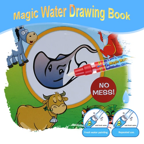 Non-toxic Magic Water Drawing Book Coloring Book Doodle with Magic Pen Animals Painting No Ink Educational ToyDIY Toys<br>Non-toxic Magic Water Drawing Book Coloring Book Doodle with Magic Pen Animals Painting No Ink Educational Toy<br><br>Blade Length: 26.0cm