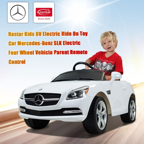 Buy Rastar Kids 6V Electric Ride Toy Car Mercedes-Benz SLK Four Wheel Vehicle Parent Remote Control White