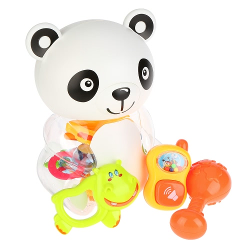 8 Pieces Baby Rattle and Teether Toy