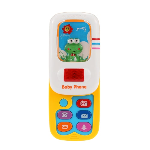 Coolplay Baby Funny Phone Toy Language Musical Mobile Phone with Music Button and LightDIY Toys<br>Coolplay Baby Funny Phone Toy Language Musical Mobile Phone with Music Button and Light<br><br>Blade Length: 21.0cm