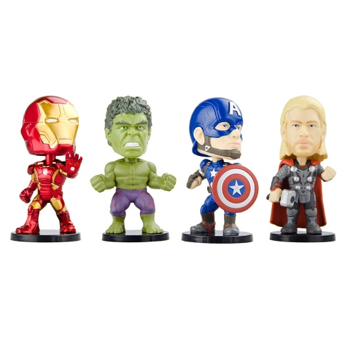 Funko POP Marvel Avengers 2 Movie Action Figure Set Iron Man Thor Hulk and Captain America T715