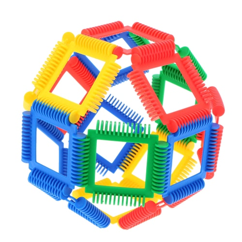 Buy Plastic 42 Pieces Geometry Blocks Building Bricks Educational Toy Baby Kids