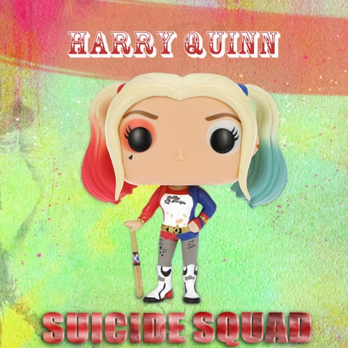 FUNKO POP Movie Suicide Squad Action Figure Vinyl Model Collection - Harry Quinn
