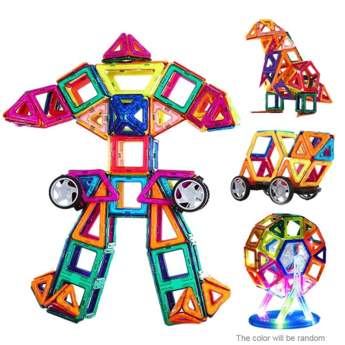 Buy Magnetic Toy 72 Pieces Plastic Building Blocks 3D Kits DIY Kids Toys Educational Model