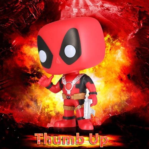 FUNKO POP Marvel Deadpool Action Figure Vinyl Model Collection - Thumb Up