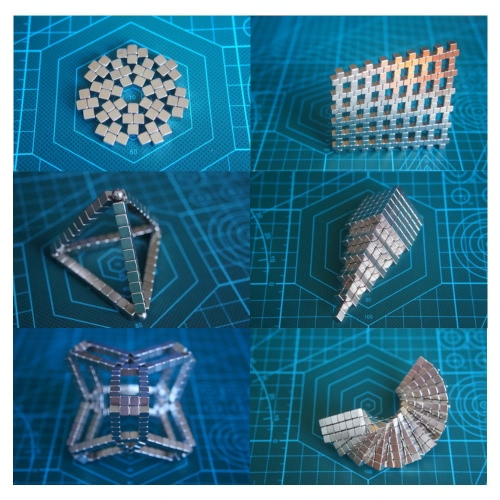 5mm Neodymium Magnetic Cube DIY Puzzle Set 125 Pieces Silver