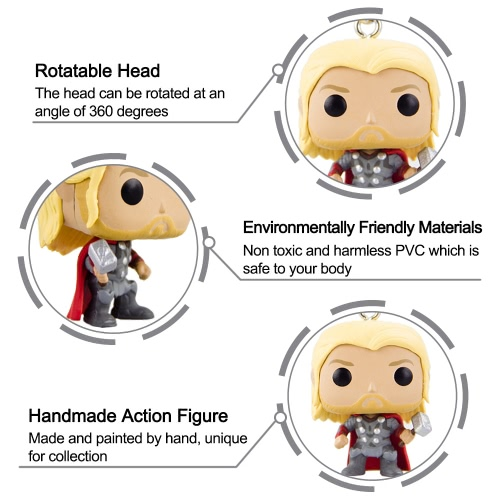 FUNKO Avengers 2 Thor Action Figure Keychain T739
