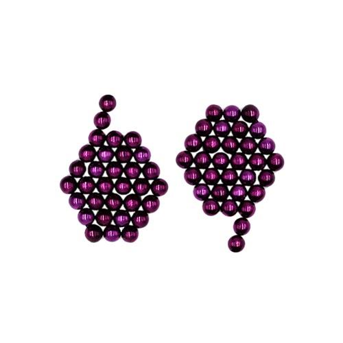 5 mm 64 Pieces Magnetic Beats Magic Balls Spheres DIY Crafts Puzzle Neodymium Iron Educational Toys Purple T227PU