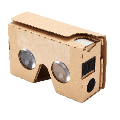 "Portable Head-Mounted DIY Google Cardboard V2.0 3D Glasses VRS 34mm Bi-Convex Lenses 3D VR Virtual Reality Video Glasses for iPhone 6 Plus  Samsung  Note 4  HTC Up to 6"""" Smart Phones"" V1590"
