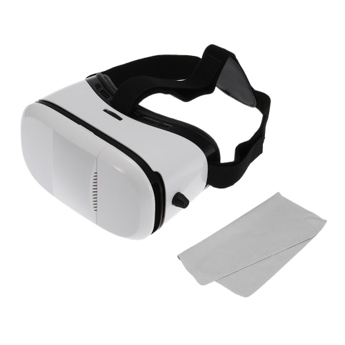 "Virtual Reality 3D VR Glasses Head-mounted Google Cardboard 3D VR Headset Video Movie Game Glasses with Headband for iPhone 6S 6 Samsung S6 Note 5 LG / All 4.0 ~ 6.0"""" Smart Phones"" V1660"