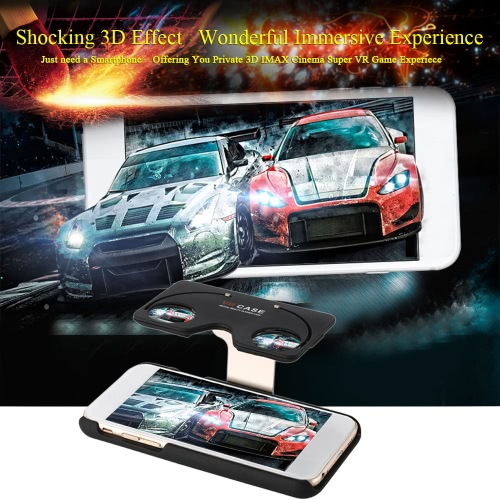 Folding 3D Virtual Reality Glasses Case Virtual Reality Headset & Smartphone Case 2 in 1 Movie Game Universal for iPhone 6s 6