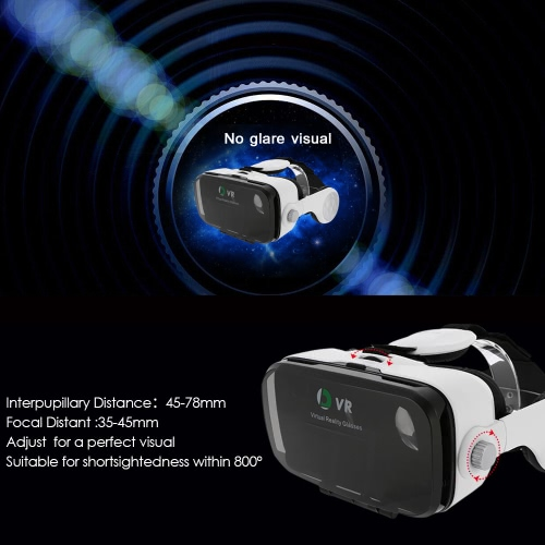 OL Virtual Reality Glasses VR  Box Talking Glasses Headset with Headphone for Android iOS Windows Smart Phones with 5.5-6.2 inches