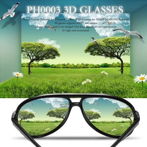 PH0003 3D Glasses Passive Circular Polarized for Polarized TV Real D 3D Cinemas for SHARP SAMSUNG Panasonic V1872