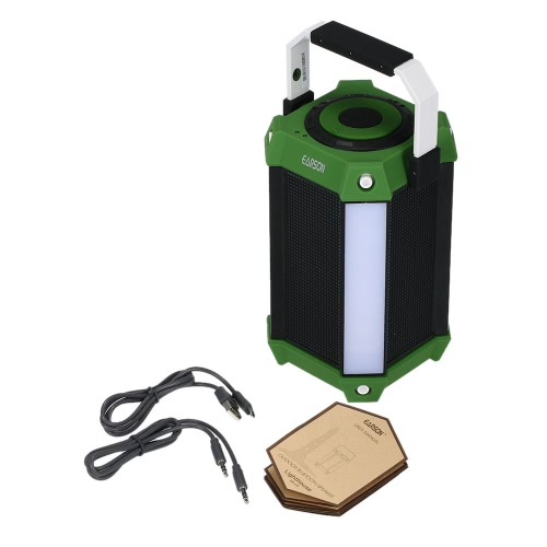 Buy Earson ER-159 Outdoor Bluetooth Speaker LED Light & Colorful Music Wall Sound Box Support TF Card USB Aux Input FM Radio Green Handle
