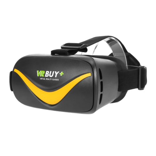 VRBUY+ HY-3 Virtual Reality Glasses VR Headset 3D Movie VR Games Supports Bluetooth 4.0 Universal for Android iOS Smart Phones within 4.0 to 6.0 Inches Black-Yellow
