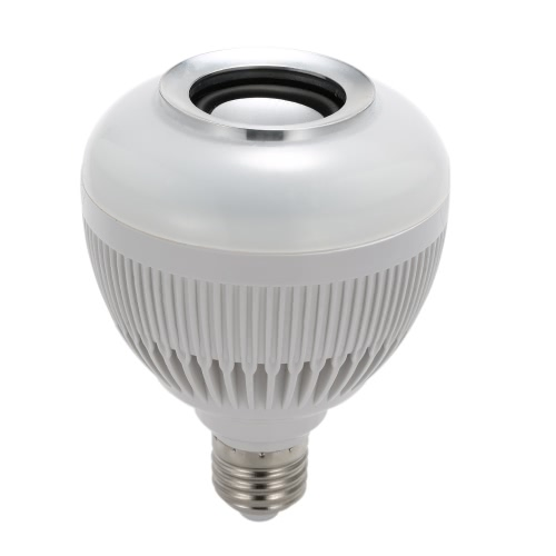 Buy Wireless Bluetooth Music LED Bulb Audio Speaker 6W E27 12W Power RGBW Playing Light Lamp 24 Keys IR Remote Control