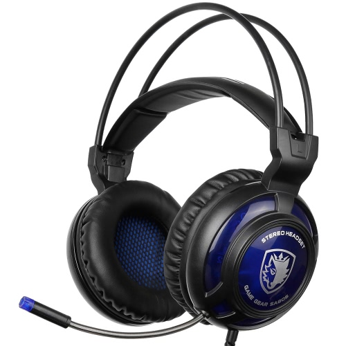 SADES SA-805 3.5mm Gaming Headsets with Microphone Noise Cancellation Music Headphones Black-blue for PS4 Laptop Tablet PC Mobile PhonesGame headphone<br>SADES SA-805 3.5mm Gaming Headsets with Microphone Noise Cancellation Music Headphones Black-blue for PS4 Laptop Tablet PC Mobile Phones<br><br>Blade Length: 21.0cm