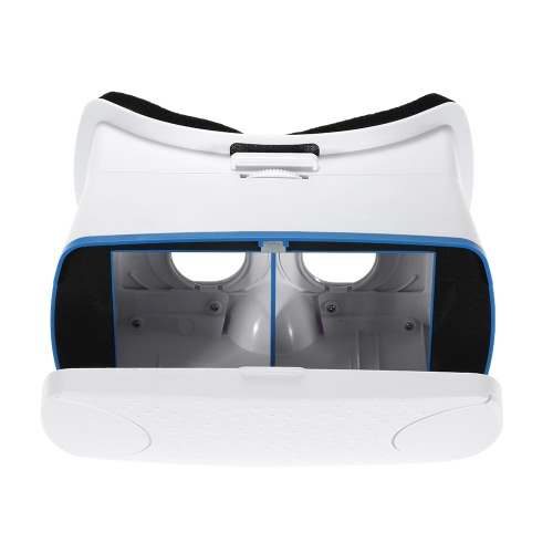"VR360 Head-Mounted Google Cardboard 3D VR Glasses Virtual Reality 3D VR Video Movies Games Glasses w/ Headband White for iPhone 6 6S Samsung All """"4.5 ~ 6.0"""" Smart Phones"" V1715"